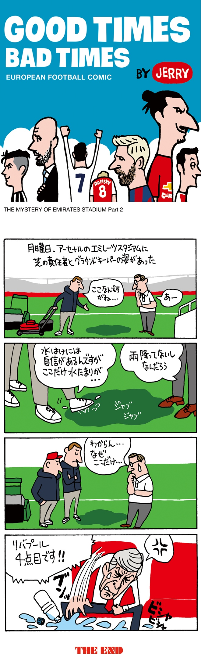 欧州サッカーの4コマ漫画